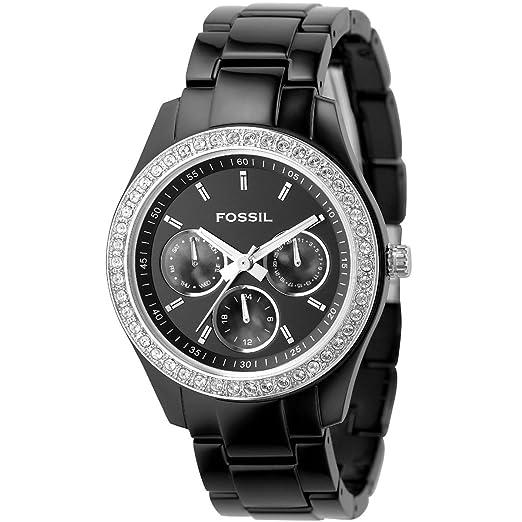 Fossil ES2157 - Reloj para mujeres, correa de plástico color negro: Fossil: Amazon.es: Relojes