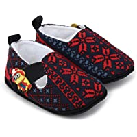 Superminis Baby Boys Ethnic Print Thick Base Booties/Shoes (0-6 Months, Red)