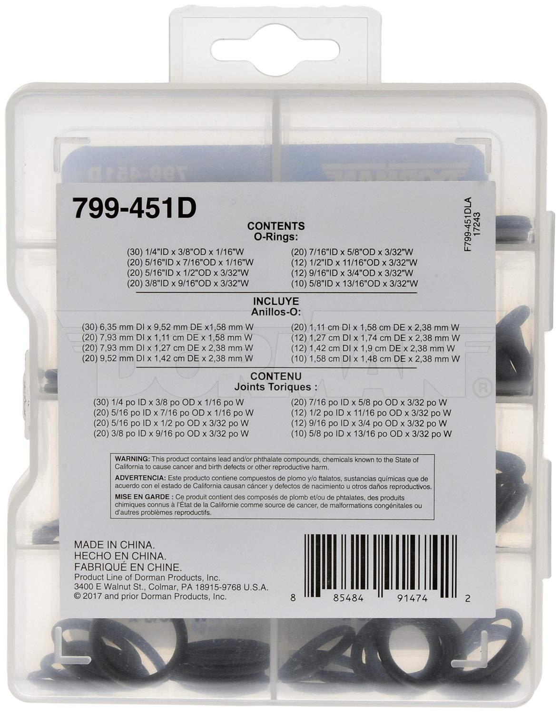 DORMAN 799-451D Pro Pack Standard O-Rings 144 Pack