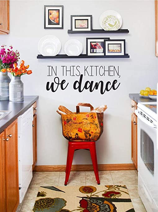 EvelynDavid in This Kitchen We Dance Vinyl Wall Decal Kitchen Wall Decor  Wall Sticker