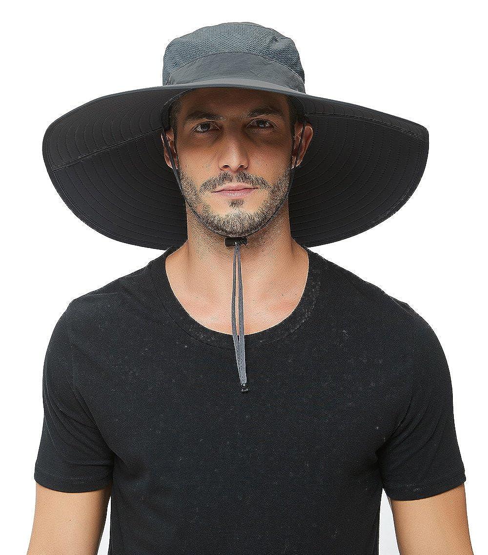 Super Wide Brim Sun Hat-UPF50+ Waterproof Bucket Hat for Fishing, Hiking, Camping