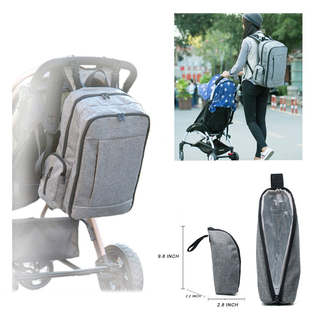 Amazon.com: Bebé Pañal bolsas Weekender Bolsa para las ...