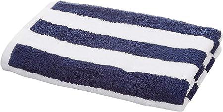 AmazonBasics - Toalla de playa, de rayas Cabana, color azul marino, pack de 1: Amazon.es: Hogar