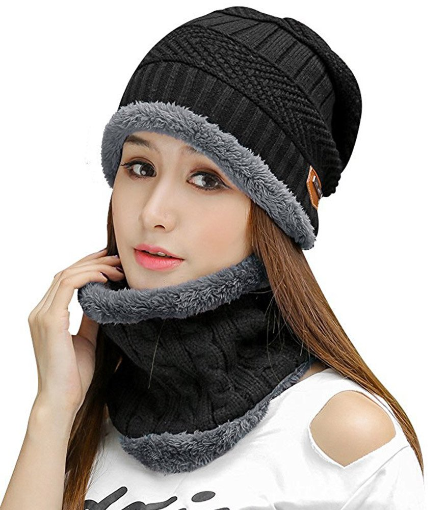 f52b64a3067 HINDAWI Womens Slouchy Beanie Winter Hat Knit Warm Snow Ski Skull Cap