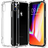 iPhone X Case, iPhone 10 Case, cresawis [Air Cushion] [Shock-Absorption] TPU Bumper Ultra Slim Protective Scratch-resistant Shockproof Case for Apple iPhone X/iPhone 10 - Clear (Clear)