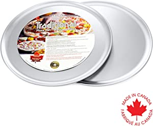 Crown Pizza Pan 12 inch, 2 Pack, Sturdy, Rust Free, Even Heat Distribution, Pure Aluminum