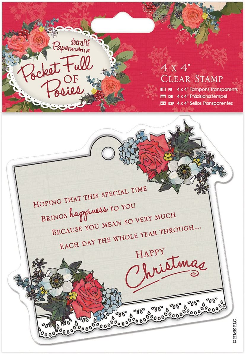 """Paper Rose Clear Stamps 4/""""X4/""""-Hooked On You"""