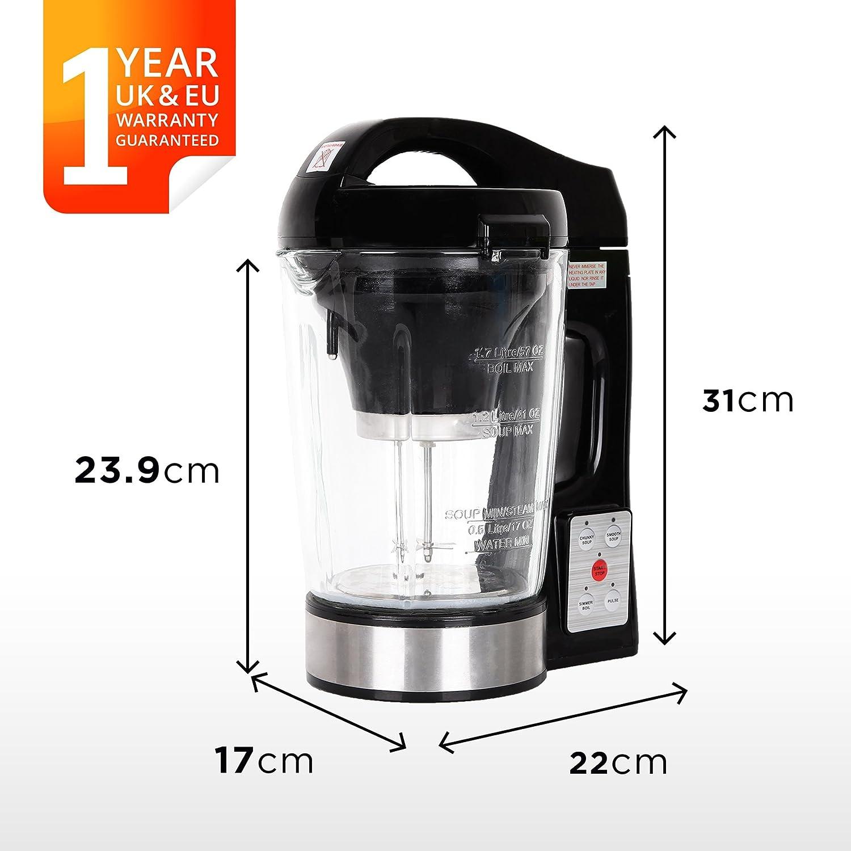 Duronic BL78 Soup Maker Blender - Glass Jug Kettle 1.7L - Your own personal soup maker machine BL78