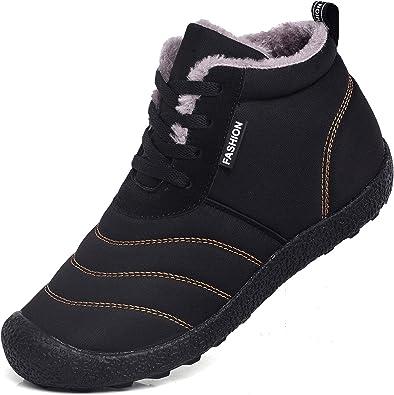 UNN Snow Boots for Men Women Lace-up
