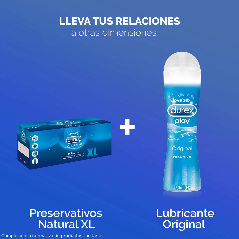 Durex Preservativos Originales Naturales Natural Plus Talla XL - Pack 144 Condones: Amazon.es: Salud y cuidado personal