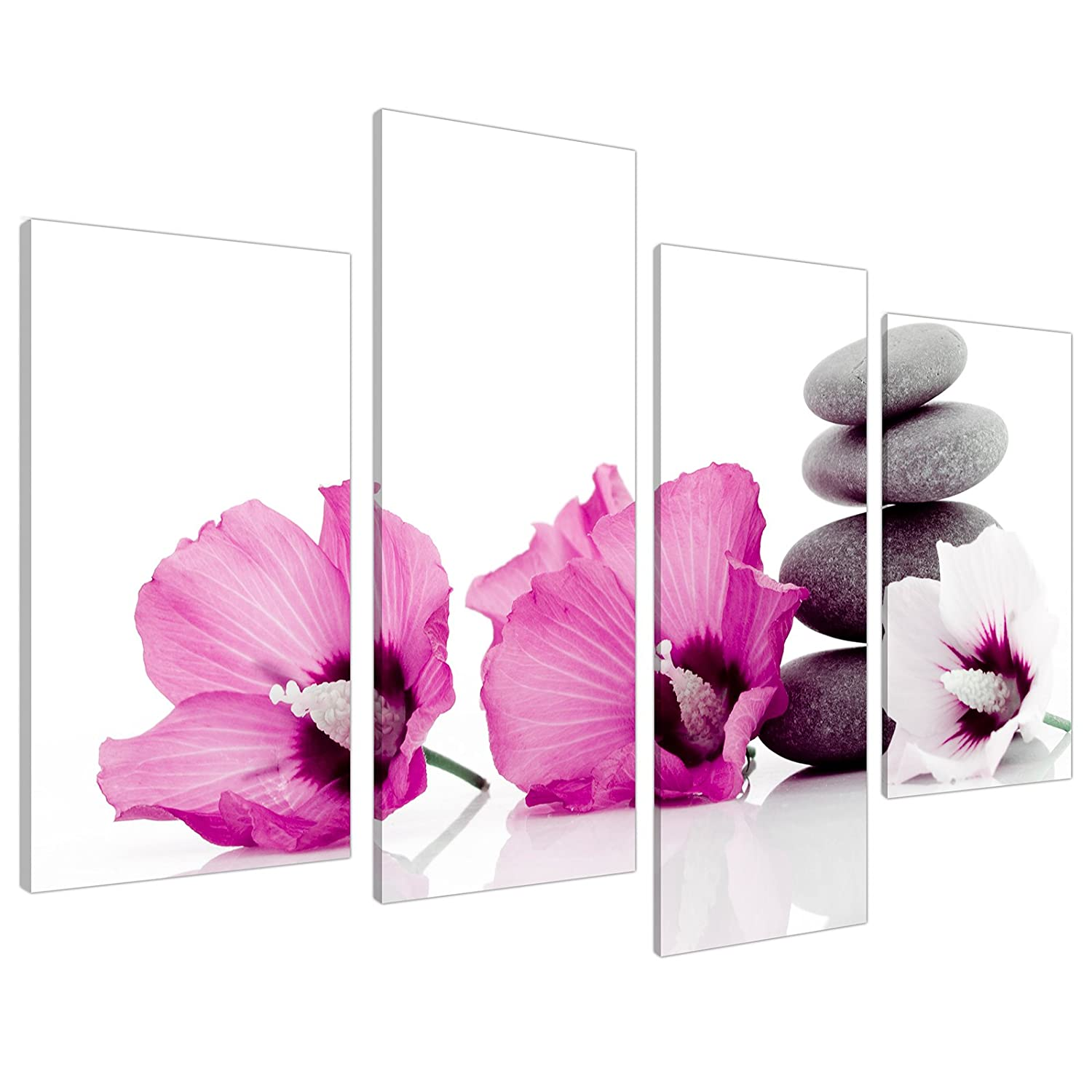 Large pink flower floral canvas wall art pictures 130cm set xl 4069 large pink flower floral canvas wall art pictures 130cm set xl 4069 amazon kitchen home mightylinksfo