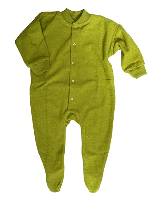 e70462f62 Cosilana Sleepsuit/Bodysuit With Enclosed Feet, 100% Organic Wool (0-2