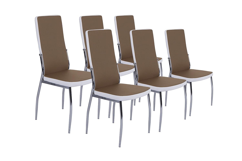 CAVADORE Stuhl Set Mattis / 6 Esszimmer Stühle Ohne Armlehne in ...