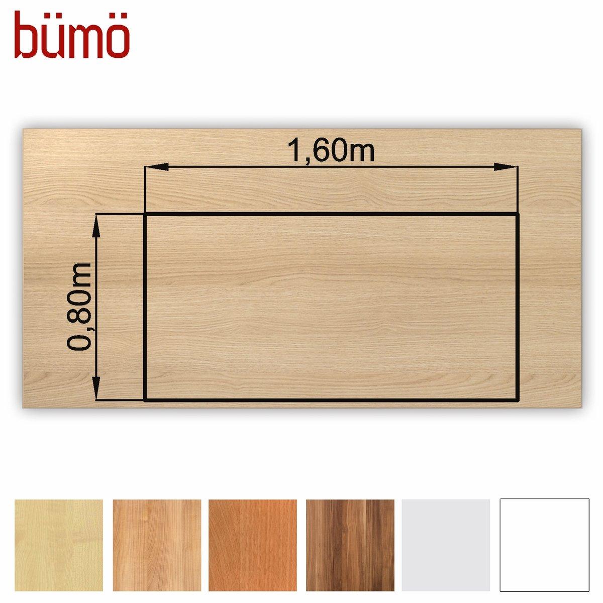 Bümö® stabile Tischplatte 2,5 cm stark - DIY Schreibtischplatte aus ...
