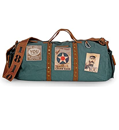 The House of tara Canvas Combat Blue Travel Duffles  Amazon.in  Bags ... 6b30f61ac81b0