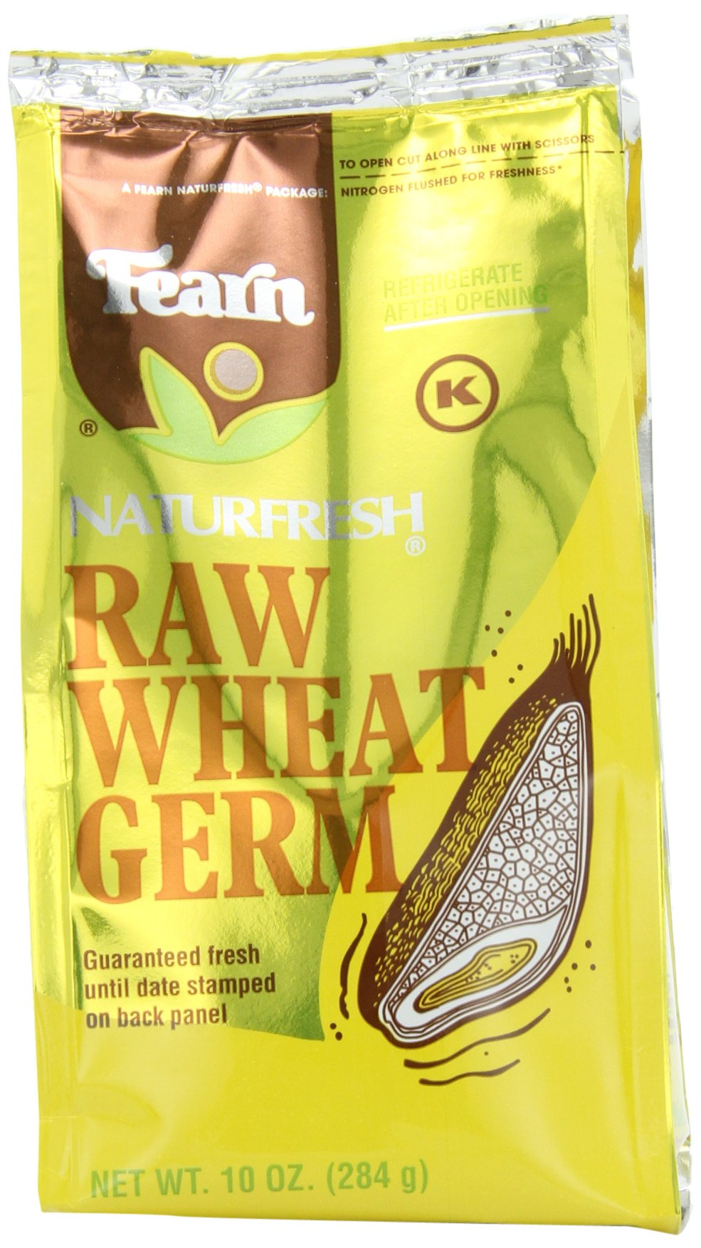 Fearn NaturFresh Raw Wheat Germ, 10 Ounce (Pack of 12)