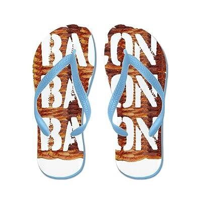b4a8103405b624 CafePress - Bacon Bacon Bacon - Flip Flops