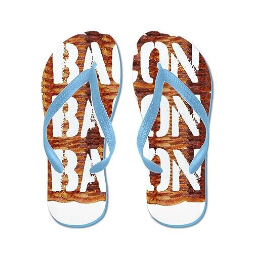ee2b5a05018ca Amazon.com   CafePress - Bacon Bacon Bacon - Flip Flops, Funny Thong ...