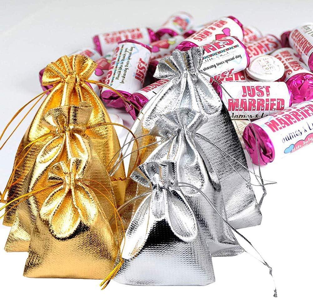 10 x 12 cm 50 sacchettini Regalo per Gioielli 13 x 18 cm Shager Oro e Argento 5 x 7 x 9 cm