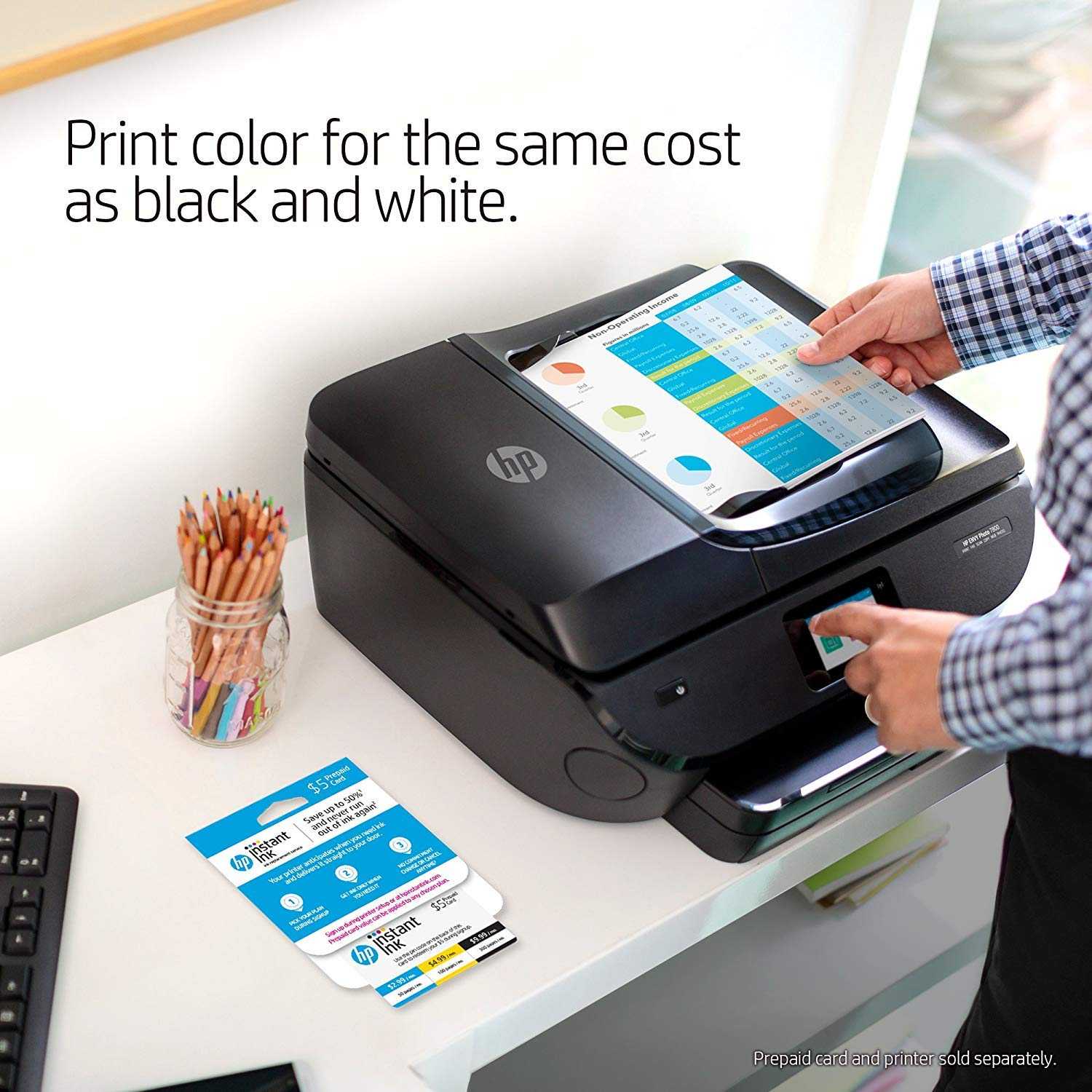 HP OfficeJet 3830 All-in-One Wireless Printer with Mobile Printing (K7V40A) and Instant Ink Prepaid Card for 50 100 300 Page per Month Plans (3HZ65AN) by HP (Image #7)