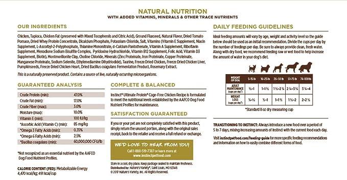 Instinct Ultimate Protein Grain Free Cage Free Chicken Recipe