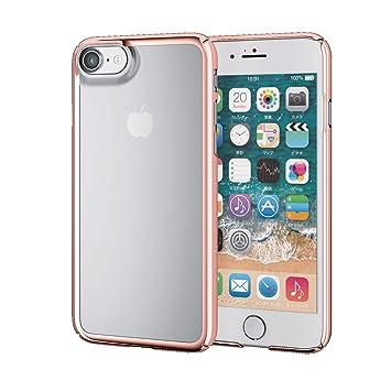 8246579d32 エレコム iPhone8 ケース カバー ハード ポリカーボネート素材 サイドメッキ 【端子・ボタン回りまで保護