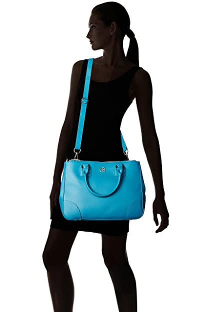 2c5ba1ebe226 Tory Burch Robinson Double Zip Tote Large (Electric Eel)  Amazon.ca  Shoes    Handbags