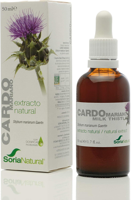 Soria Natural - EXTRACTO DE CARDO MARIANO - Suplemento nutricional - desintoxica y protege el hígado, mejora la digestión y reduce el dolor estomacal (PACK1)