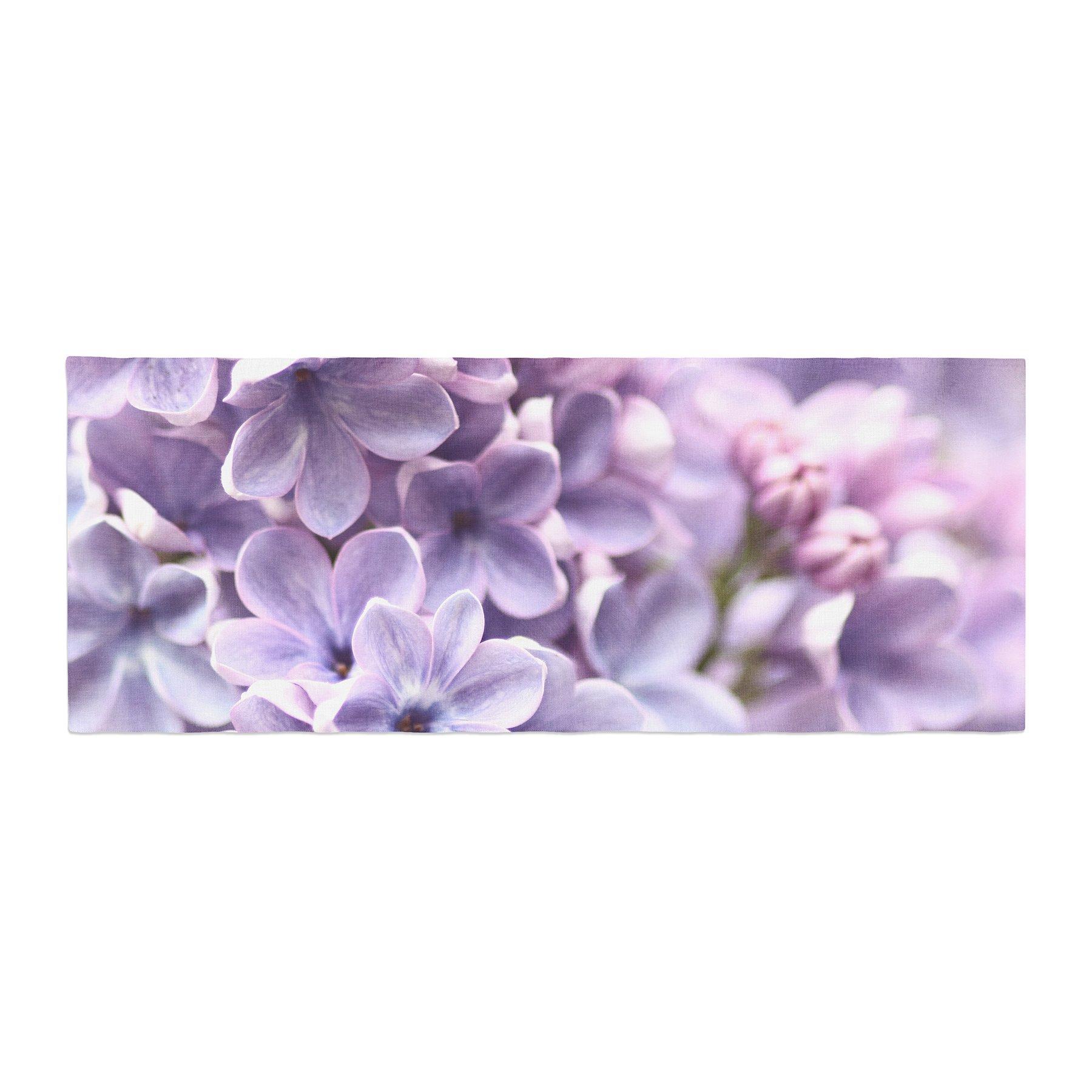 Kess InHouse Sylvia Cook Lilac Purple Flowers Bed Runner, 34'' x 86''