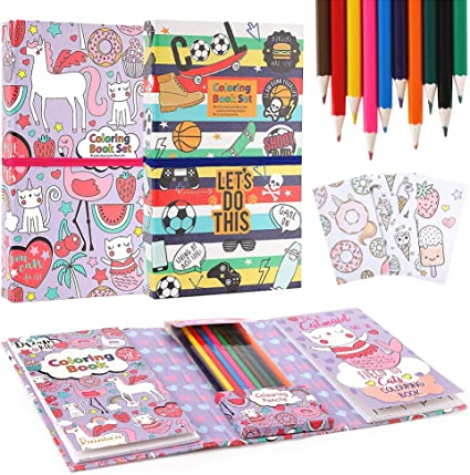 Amazon.com: Unicorn Coloring Pads Set For Kids, Mess Free Coloring Activity  Notebook, 120 Coloring Pages And 20 Coloring Pencils For Drawing Painting,  Unicorn Birthday Gift For Girls Boys Age 2 3 4 5 6 7 8: Office Products