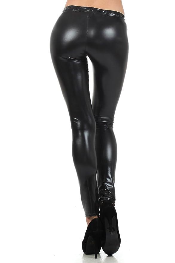 6ecfec901bb1a Sakkas Footless Liquid Wet Look Shiny Metallic Stretch Leggings at Amazon  Women's Clothing store: