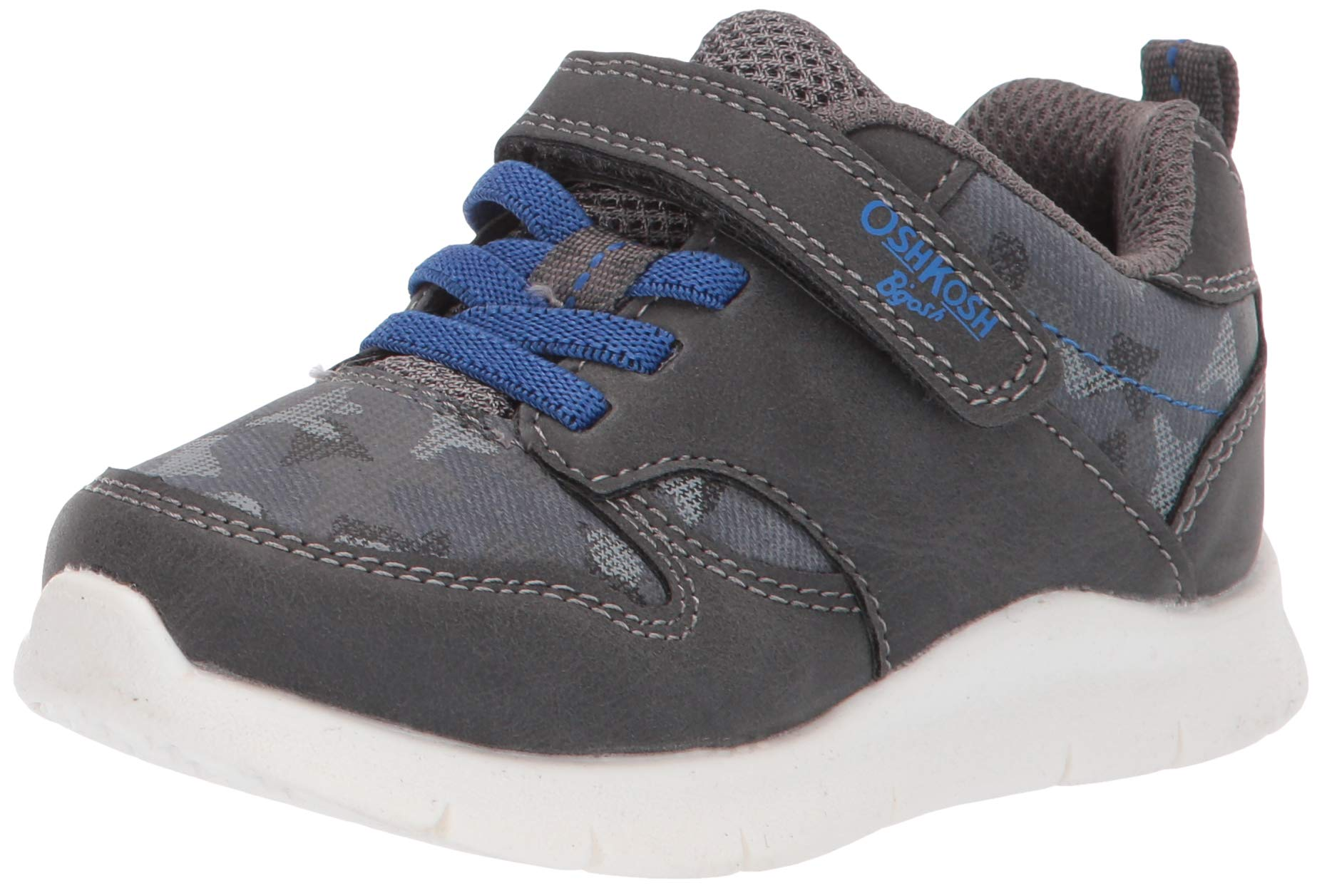 OshKosh B'Gosh Geovanie Boy's Athletic Sneaker, Charcoal, 10 M US Toddler by OshKosh B'Gosh