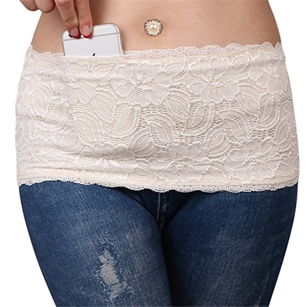 TAROMAING Womens Lace Non-Slip Thigh Garter Purse Phone Security Pockets