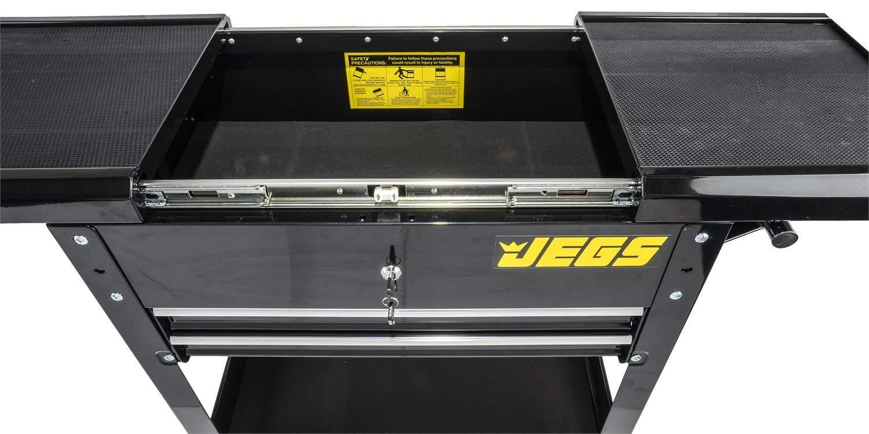 JEGS 81412 Heavy-Duty Tool Box Cart Sliding Top 350 lb Capacity