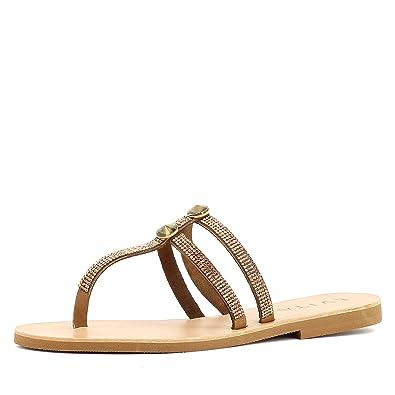 Evita Shoes Greta Damen Sandale Rauleder Schwarz 41 pgxtjlEW