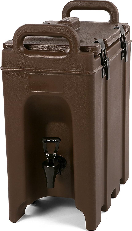 Carlisle LD250N01 Cateraide Insulated Beverage Server/Dispenser, 2.5 Gallon, Brown