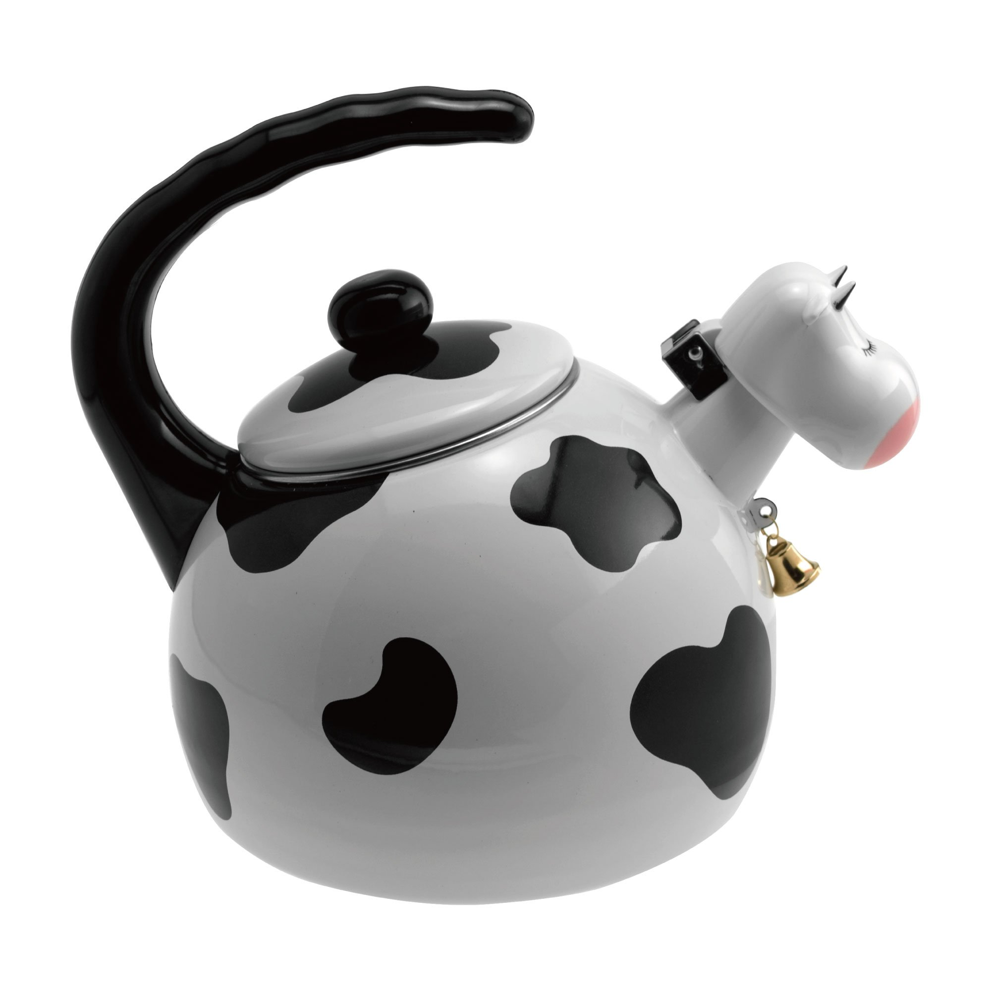 Supreme Housewares 71508 Cow Whistling Kettle, 2.5 quarts, White & Black by Supreme Housewares (Image #3)