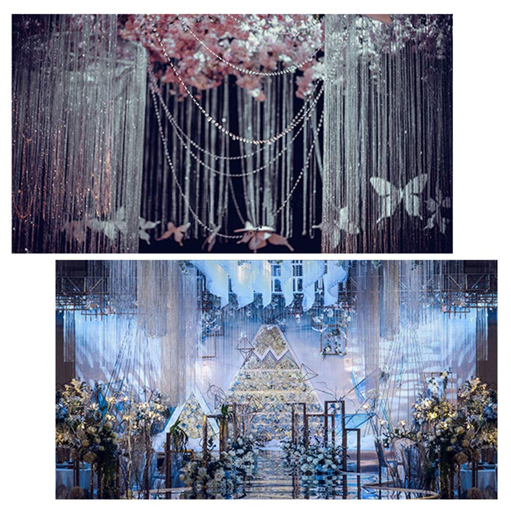 DAYOLY Kristallperlen Ketten Acryl Garland Glas Perlen T/ür Perlen Kronleuchter Kette String Vorhang Panel F/ür DIY Hochzeit Weihnachten Ornamente Dekor Violett
