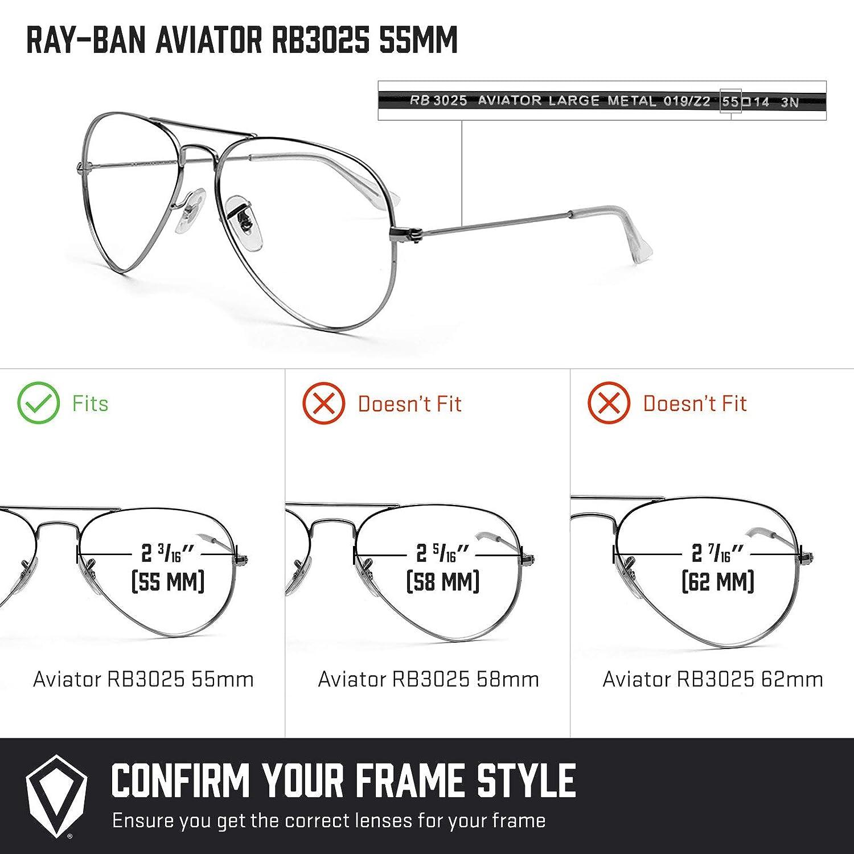 397c8728e1 Revant Replacement Lenses for Ray-Ban Aviator RB3025 55mm Elite Adapt Grey  Photochromic  Amazon.co.uk  Clothing