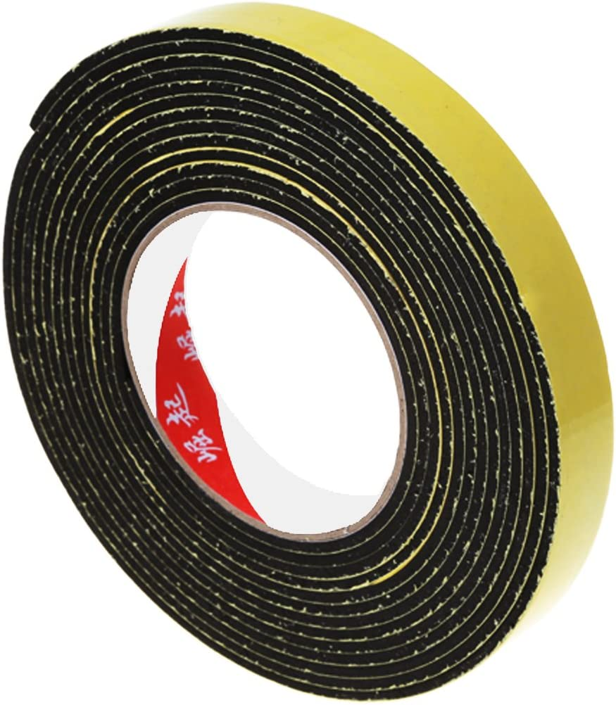 ACAMPTAR 5m Negro Cinta de espuma autoadhesiva de un solo lado celula cerrada 20 mm ancho x 3 mm espesor