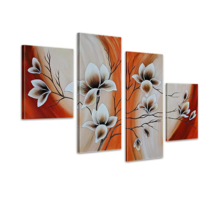 Leinwandbild 4 teilig 120x70cm Handgemalt Abstrakte Kunst M9