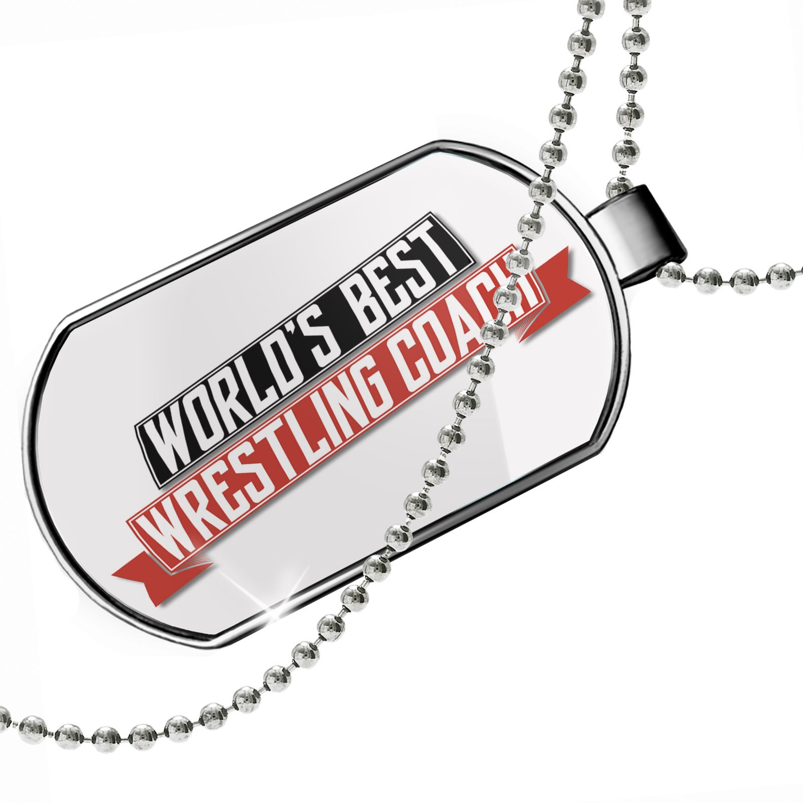 Dogtag Worlds Best Wrestling Coach Dog tags necklace - Neonblond