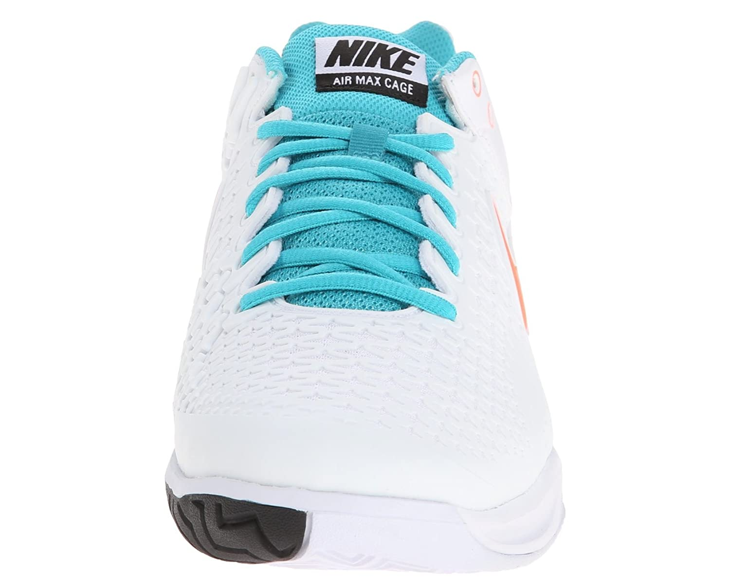 the latest 73012 54789 Amazon.com   Nike Men s Air Max Cage Tennis Shoes (6, White Hyper  Crimson-Dusty Cactus)   Skateboarding