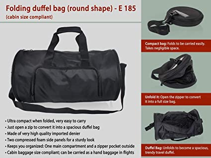 58ec502104ee Fyugo Folding Duffel Bag - Assorted Color  Amazon.in  Electronics