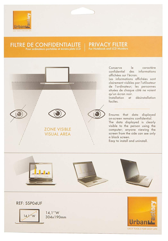 13.3 - Filtro de pantalla para monitores Port/átil, Filtro de privacidad para pantallas sin marco, Antideslumbrante, Anti-radiation, Antiest/áti Urban Factory SSP13UF filtro para monitor Filtro de privacidad para pantallas sin marco 33,8 cm