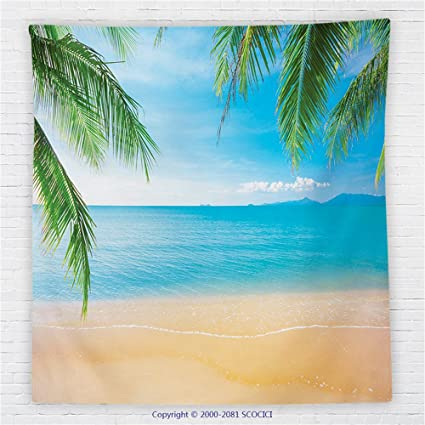 Beach Themed Throw Blanket Stunning Amazon 60 X 60 Inches Beach Themed Decor Fleece Throw Blanket
