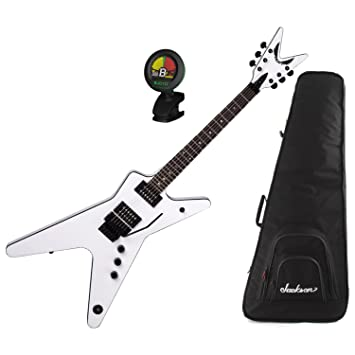 Dean ML 79 Floyd – Guitarra eléctrica, color blanco con bolsa de concierto y sintonizador