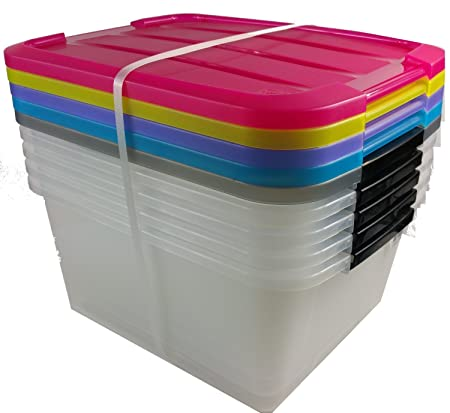Storage box with handles set of 5 boxes with Lid 15 litre by Irish