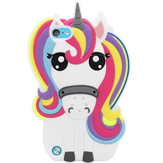 new arrival b427d 62b7e Mulafnxal Rainbow Unicorn Case for iPod Touch 5 6 5th 6th,3D Soft Silicone  Cases,Cute Cartoon Animal Fun Cover,Kawaii Character Girls Kids Cool ...