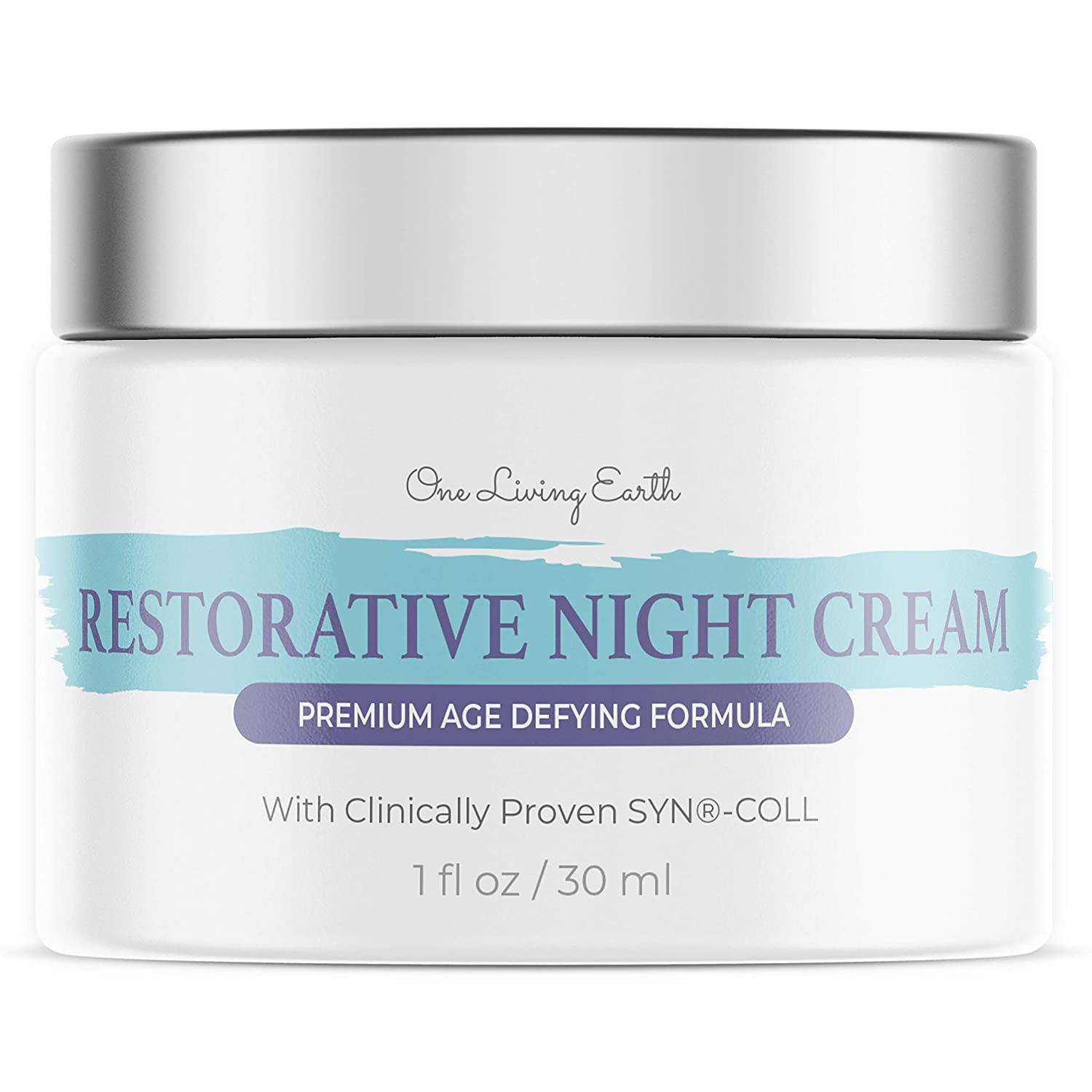 One Living Earth Night Cream for Face - Anti Aging Face Moisturizer for Women and Men - Skin Renewing Wrinkle Cream - Cleanse, Moisturize, and Protect Your Skin